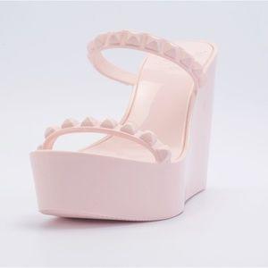 Carmen Sol Baby Pink Tonino Wedge Sandal